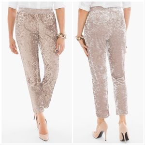 Chico's SEQUINS AND PANNE TAPERED ANKLE PANTS